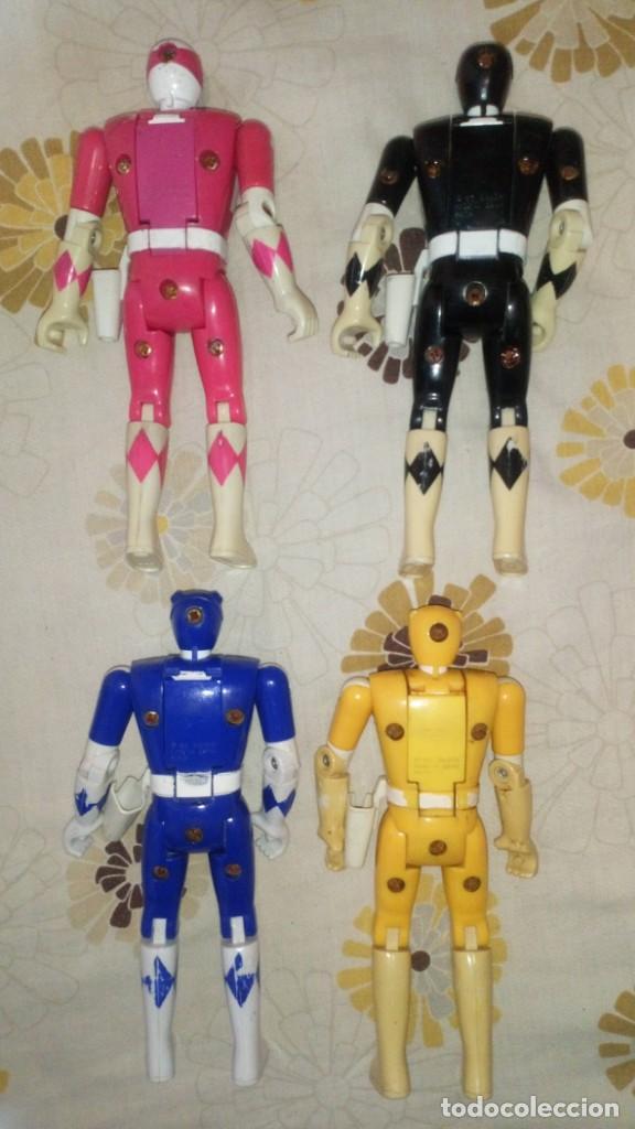 Figuras y Muñecos Power Rangers: LOTE Nº2 DE 4 FIGURAS POWER RANGERS CON DEFECTOS, PARA PIEZAS O REPARAR - Foto 2 - 206586767