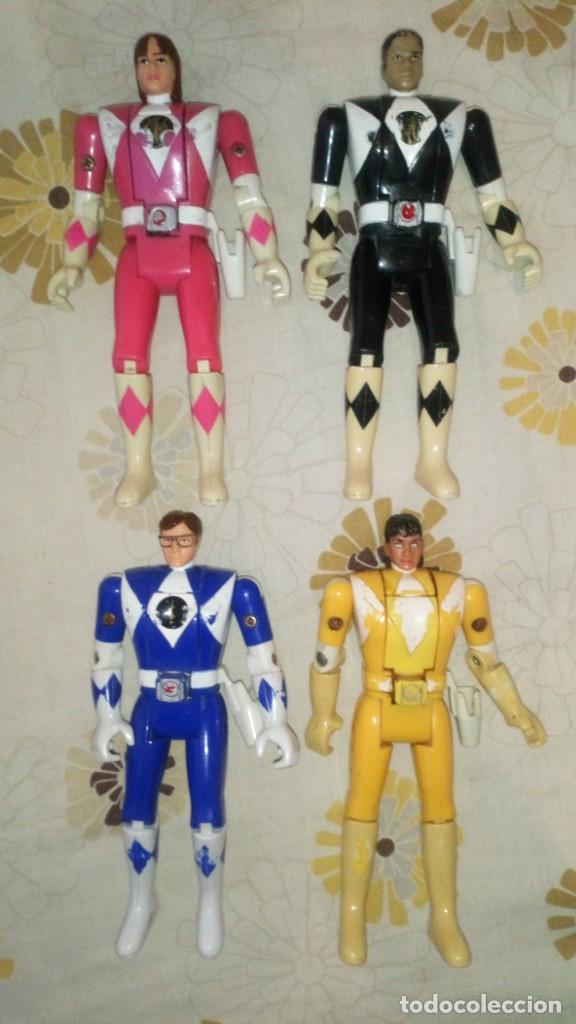 Figuras y Muñecos Power Rangers: LOTE Nº2 DE 4 FIGURAS POWER RANGERS CON DEFECTOS, PARA PIEZAS O REPARAR - Foto 3 - 206586767