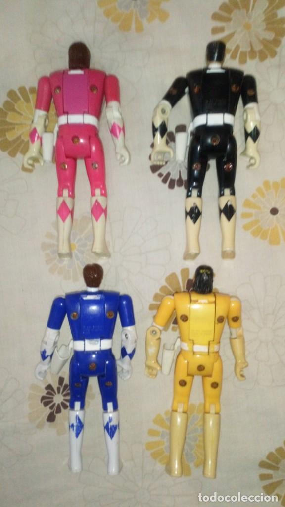 Figuras y Muñecos Power Rangers: LOTE Nº2 DE 4 FIGURAS POWER RANGERS CON DEFECTOS, PARA PIEZAS O REPARAR - Foto 4 - 206586767