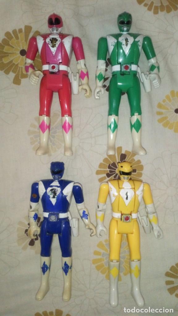 LOTE Nº1 DE 4 FIGURAS POWER RANGERS CON DEFECTOS, PARA PIEZAS O REPARAR (Juguetes - Figuras de Acción - Power Rangers)