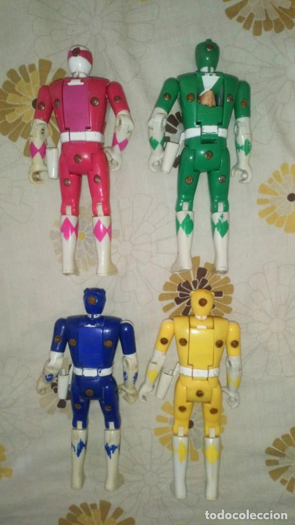 Figuras y Muñecos Power Rangers: LOTE Nº1 DE 4 FIGURAS POWER RANGERS CON DEFECTOS, PARA PIEZAS O REPARAR - Foto 2 - 206587225