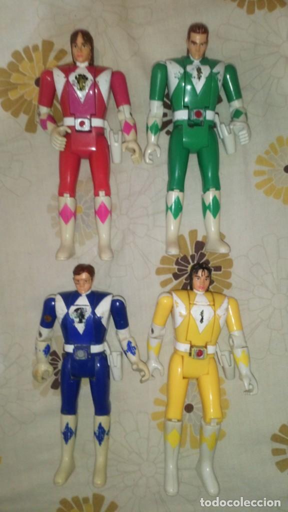 Figuras y Muñecos Power Rangers: LOTE Nº1 DE 4 FIGURAS POWER RANGERS CON DEFECTOS, PARA PIEZAS O REPARAR - Foto 3 - 206587225