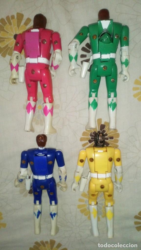 Figuras y Muñecos Power Rangers: LOTE Nº1 DE 4 FIGURAS POWER RANGERS CON DEFECTOS, PARA PIEZAS O REPARAR - Foto 4 - 206587225