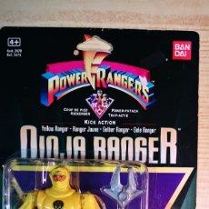 Figuras y Muñecos Power Rangers: BANDAI POWER RANGERS BLISTER NINJA RANGER AMARILLO A ESTRENAR. Lote 207018871