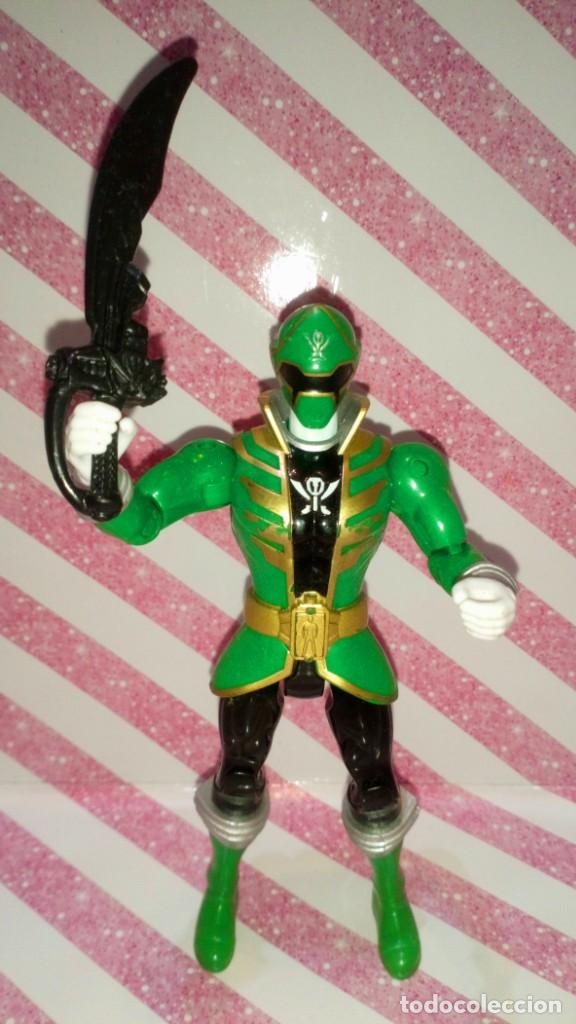 FIGURA GREEN RANGER DE POWER RANGERS SUPER MEGAFORCE - BANDAI - 2014 (Juguetes - Figuras de Acción - Power Rangers)