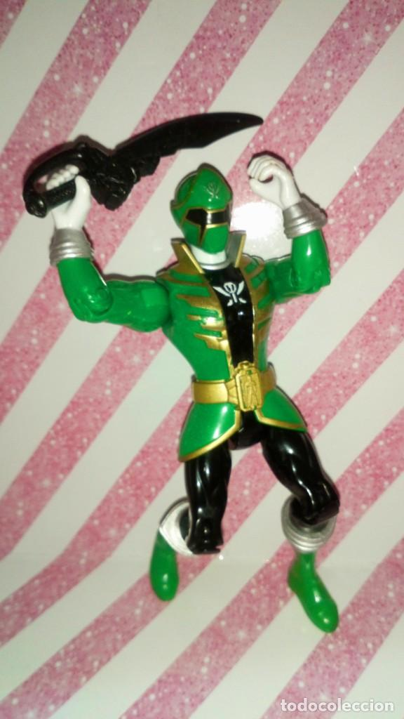 Figuras y Muñecos Power Rangers: FIGURA GREEN RANGER DE POWER RANGERS SUPER MEGAFORCE - BANDAI - 2014 - Foto 5 - 208317185