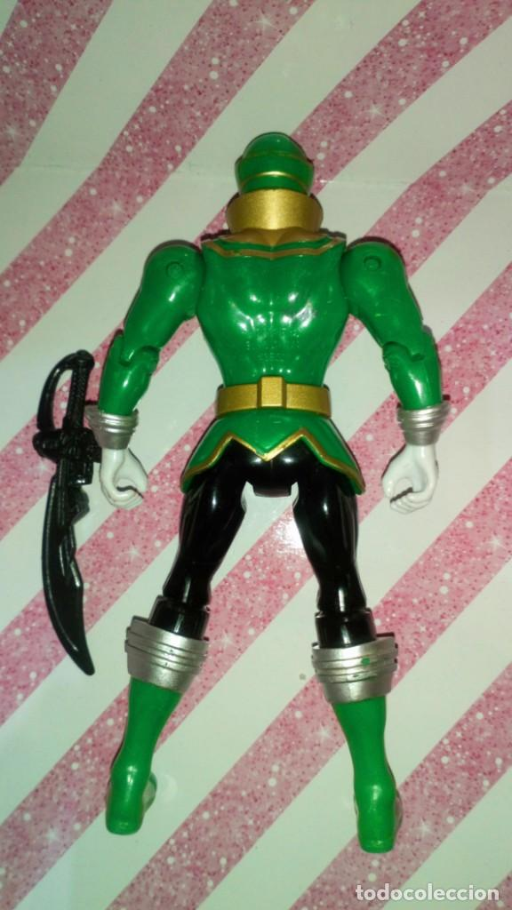 Figuras y Muñecos Power Rangers: FIGURA GREEN RANGER DE POWER RANGERS SUPER MEGAFORCE - BANDAI - 2014 - Foto 7 - 208317185