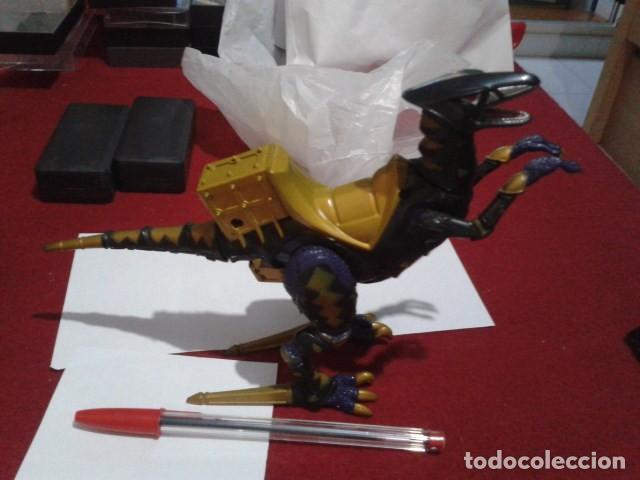 FIGURA POWER RANGERS DINO TRUENO NEGRO RAPTOR RIDER -BANDAI 2003 ARTICULADO (Juguetes - Figuras de Acción - Power Rangers)