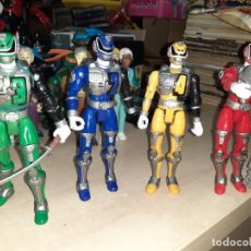 Figuras y Muñecos Power Rangers: LOTE DE 4 POWER RANGERS.SPD BANDAI 2005,CON SONIDO.. Lote 210413280