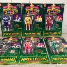 Figuras y Muñecos Power Rangers: COLECCIÓN COMPLETA 6 POWER RANGERS MIGHTY MORPHIN - BANDAI 1994 - FIGURAS METAMORFOSEABLES. Lote 210794725