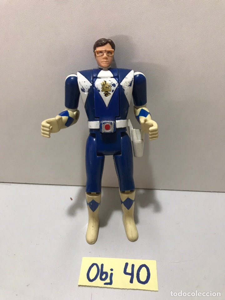 POWER RANGERS : ANTIGUA FIGURA - BLUE RANGER AZUL (Juguetes - Figuras de Acción - Power Rangers)
