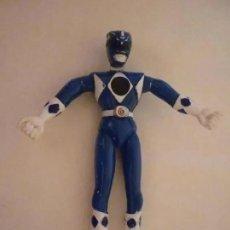 Figuras y Muñecos Power Rangers: FIGURA POWER RANGERS AZUL PVC CON ALAMBRE 13,5 CM 1993 SABAN. Lote 214248661