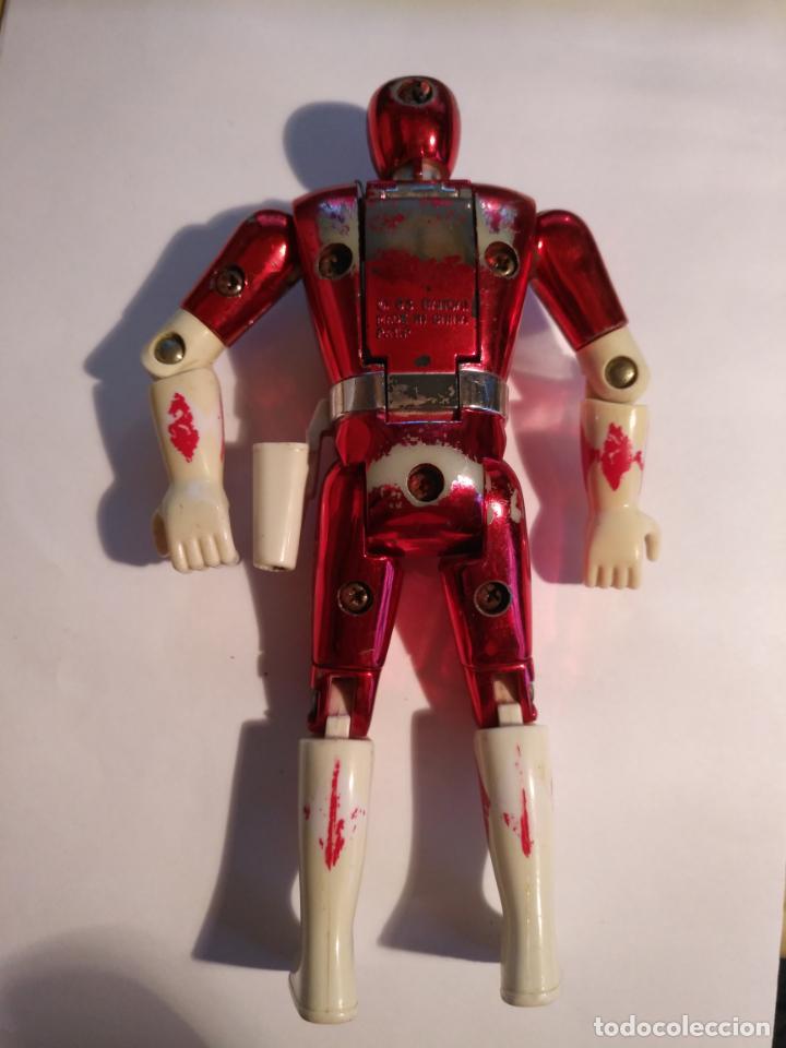 Figuras y Muñecos Power Rangers: figura muñeco plastico Power Rangers Auto Morphin 1993 Bandai rojo metalizado ver fotos detalladas - Foto 3 - 214499737