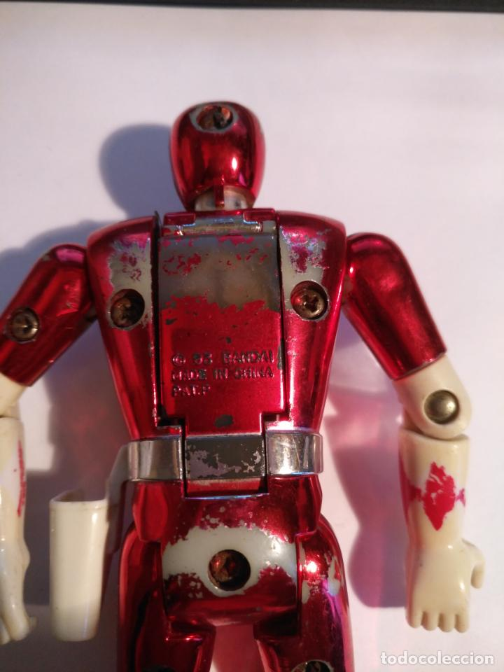Figuras y Muñecos Power Rangers: figura muñeco plastico Power Rangers Auto Morphin 1993 Bandai rojo metalizado ver fotos detalladas - Foto 4 - 214499737