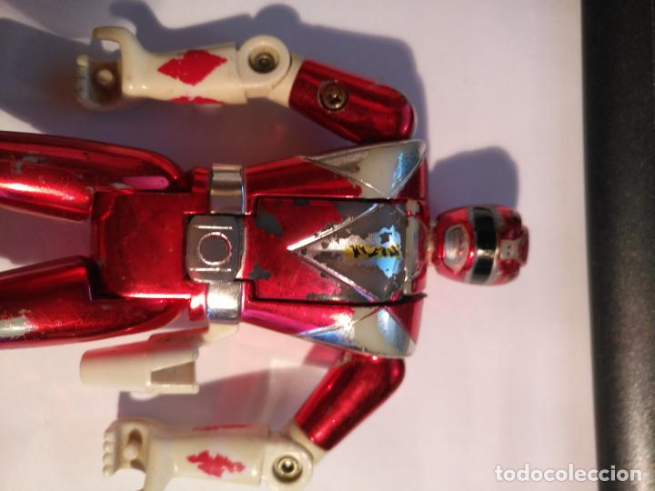 Figuras y Muñecos Power Rangers: figura muñeco plastico Power Rangers Auto Morphin 1993 Bandai rojo metalizado ver fotos detalladas - Foto 5 - 214499737
