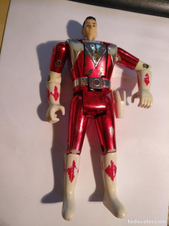 Figuras y Muñecos Power Rangers: figura muñeco plastico Power Rangers Auto Morphin 1993 Bandai rojo metalizado ver fotos detalladas - Foto 6 - 214499737