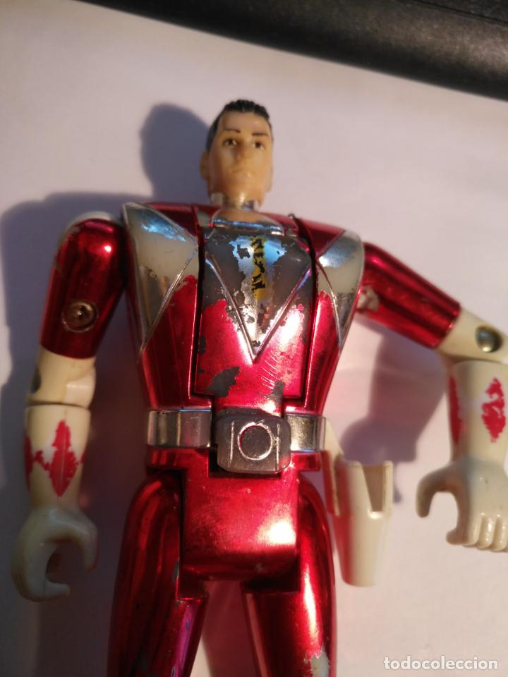 Figuras y Muñecos Power Rangers: figura muñeco plastico Power Rangers Auto Morphin 1993 Bandai rojo metalizado ver fotos detalladas - Foto 7 - 214499737