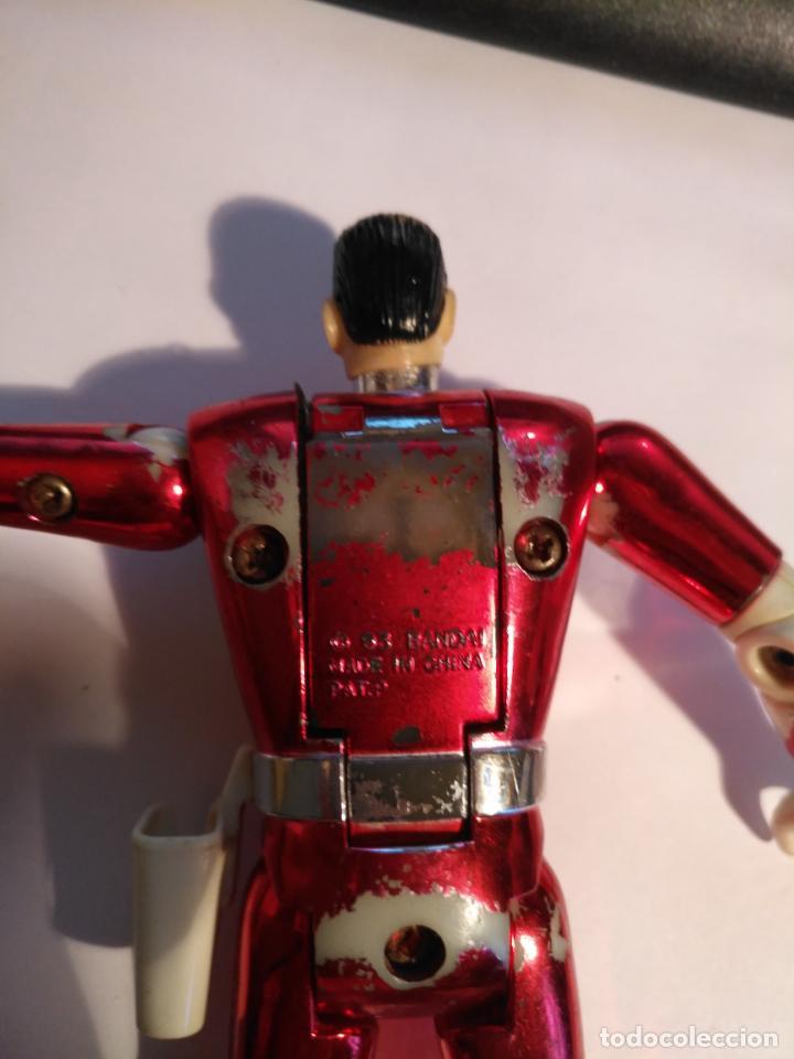 Figuras y Muñecos Power Rangers: figura muñeco plastico Power Rangers Auto Morphin 1993 Bandai rojo metalizado ver fotos detalladas - Foto 8 - 214499737