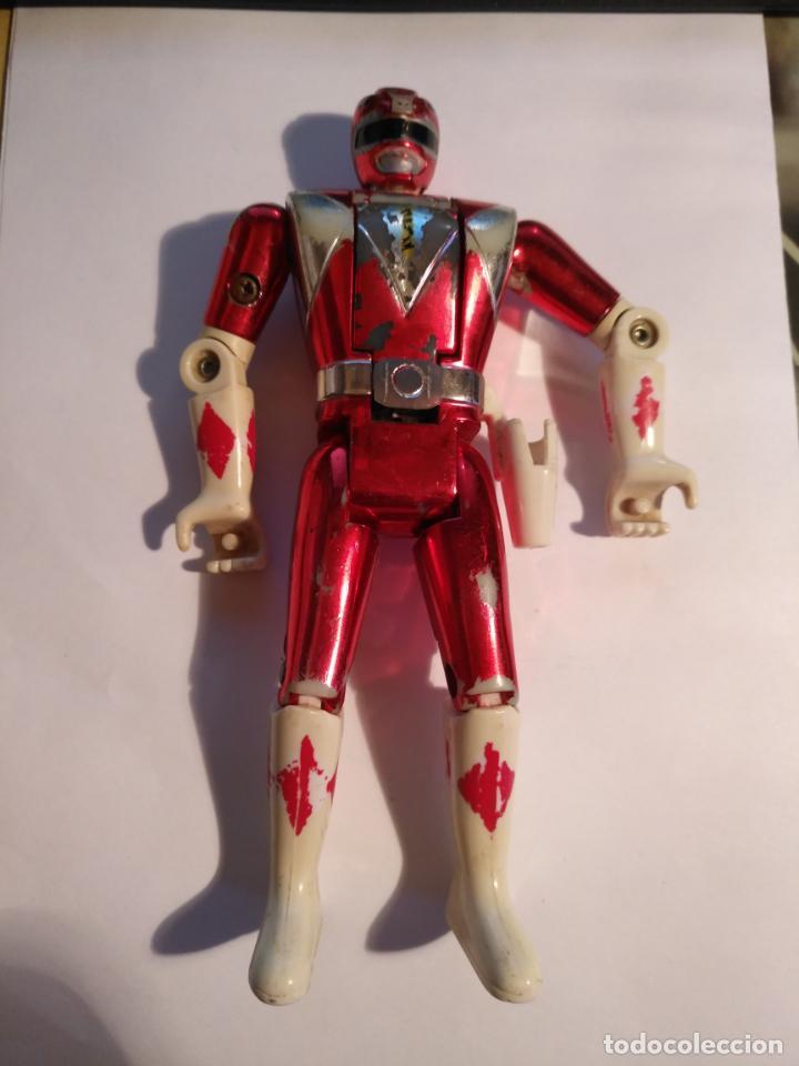 Figuras y Muñecos Power Rangers: figura muñeco plastico Power Rangers Auto Morphin 1993 Bandai rojo metalizado ver fotos detalladas - Foto 14 - 214499737