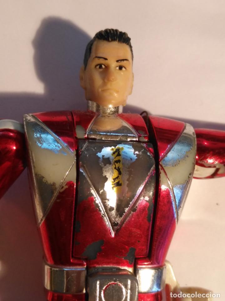 Figuras y Muñecos Power Rangers: figura muñeco plastico Power Rangers Auto Morphin 1993 Bandai rojo metalizado ver fotos detalladas - Foto 23 - 214499737