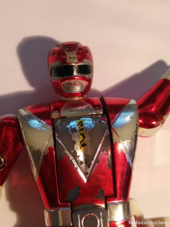 Figuras y Muñecos Power Rangers: figura muñeco plastico Power Rangers Auto Morphin 1993 Bandai rojo metalizado ver fotos detalladas - Foto 27 - 214499737