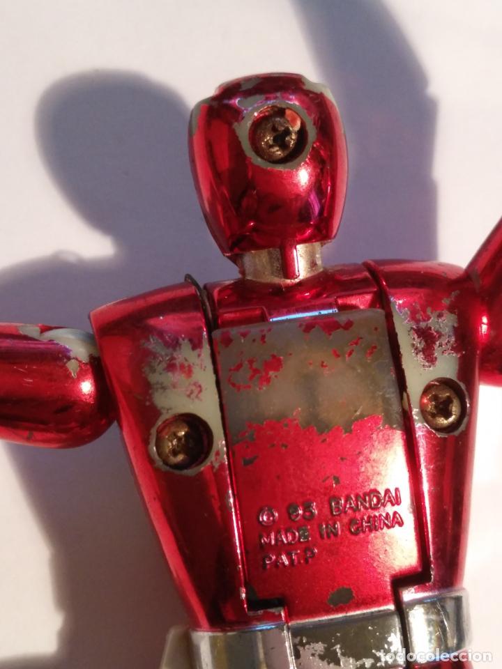 Figuras y Muñecos Power Rangers: figura muñeco plastico Power Rangers Auto Morphin 1993 Bandai rojo metalizado ver fotos detalladas - Foto 28 - 214499737