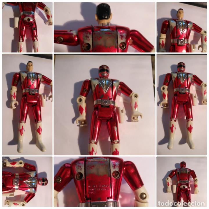 FIGURA MUÑECO PLASTICO POWER RANGERS AUTO MORPHIN 1993 BANDAI ROJO METALIZADO VER FOTOS DETALLADAS (Juguetes - Figuras de Acción - Power Rangers)