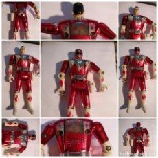Figuras y Muñecos Power Rangers: FIGURA MUÑECO PLASTICO POWER RANGERS AUTO MORPHIN 1993 BANDAI ROJO METALIZADO VER FOTOS DETALLADAS. Lote 214499737