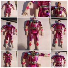 Figuras y Muñecos Power Rangers: FIGURA MUÑECO PLASTICO POWER RANGERS AUTO MORPHIN 1993 BANDAI ROSA METALIZADO VER FOTOS DETALLADAS. Lote 214500376