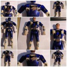 Figuras y Muñecos Power Rangers: FIGURA MUÑECO PLASTICO POWER RANGERS AUTO MORPHIN 1993 BANDAI AZUL METALIZADO VER FOTOS DETALLADAS. Lote 214500711
