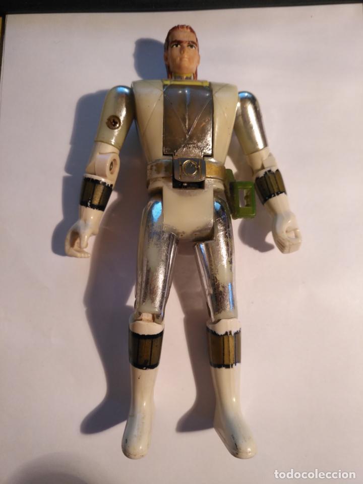 Figuras y Muñecos Power Rangers: figura muñeco plastico Power Rangers Auto Morphin 1993 Bandai blanco metalizado ver fotos detalladas - Foto 5 - 214501060