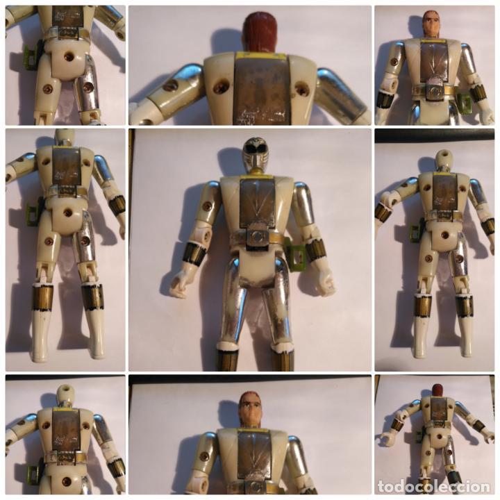 FIGURA MUÑECO PLASTICO POWER RANGERS AUTO MORPHIN 1993 BANDAI BLANCO METALIZADO VER FOTOS DETALLADAS (Juguetes - Figuras de Acción - Power Rangers)