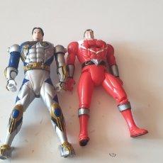 Figuras y Muñecos Power Rangers: LOTE 2 POWER RANGERS CABEZA REVERSIBLE BANDAI 2001. Lote 215273552