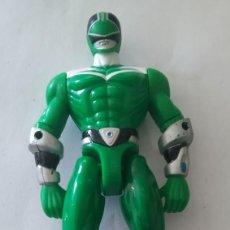 Figuras y Muñecos Power Rangers: FIGURA MUÑECO POWER RANGER VERDE , AÑO 2000 , BANDAI. Lote 216710717