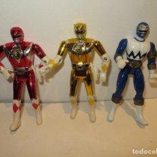 Figuras y Muñecos Power Rangers: LOTE 3 POWERS RANGERS BANDAI 2 DEL 93 Y UNO DEL 98 REGALADOS. Lote 218457857