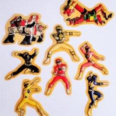 Figuras y Muñecos Power Rangers: PEGATINAS EN RELIEVE DE POWER RANGERS ADHESIVOS 3D STIKERS ON RELIEF MIRETE RUBIO, S.A. © 1995 SABAN. Lote 221547930