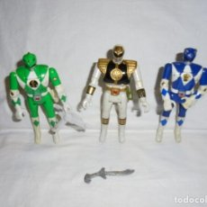 Figuras y Muñecos Power Rangers: 3 FIGURAS POWER RANGERS AUTO MORPHIN 1993 BANDAI.LO QUE SE VE EN LAS FOTOS. Lote 221608933