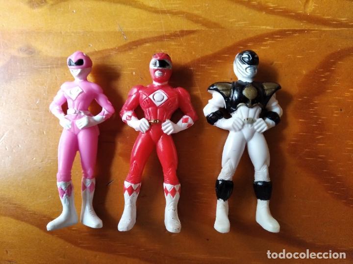 POWER RANGERS. LOTE DE 3 FIGURAS PVC - 1º SERIE 1993 MIGHTY MORPHIN - (Juguetes - Figuras de Acción - Power Rangers)