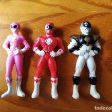 Figuras y Muñecos Power Rangers: POWER RANGERS. LOTE DE 3 FIGURAS PVC - 1º SERIE 1993 MIGHTY MORPHIN -. Lote 221802981