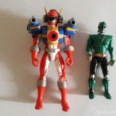 Figuras y Muñecos Power Rangers: LOTE DE 2 POWER RANGERS ( ROJO Y VERDE NINJA). Lote 222460302