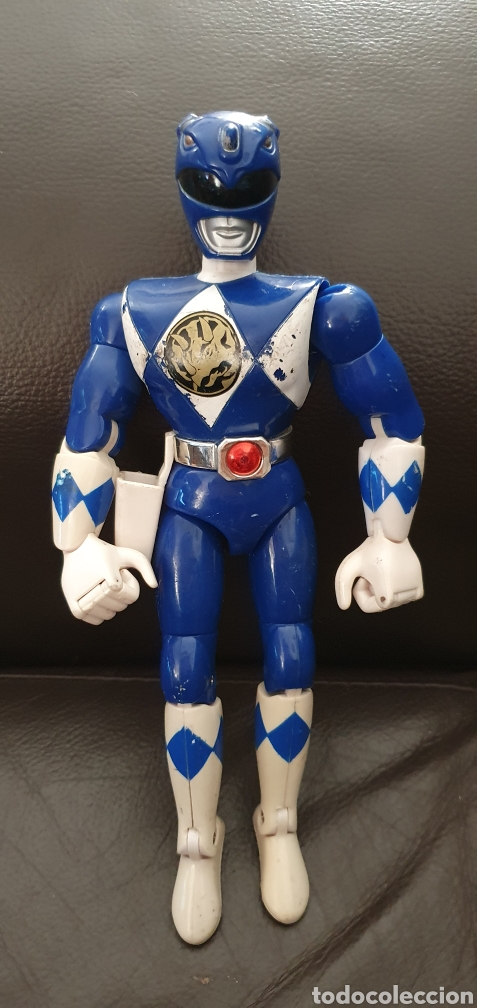 Figuras y Muñecos Power Rangers: FIGURA POWER RANGERS AZUL ARTICULADA BANDAI 1993 - Foto 2 - 225273837