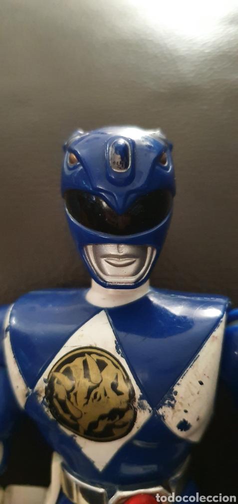 Figuras y Muñecos Power Rangers: FIGURA POWER RANGERS AZUL ARTICULADA BANDAI 1993 - Foto 4 - 225273837