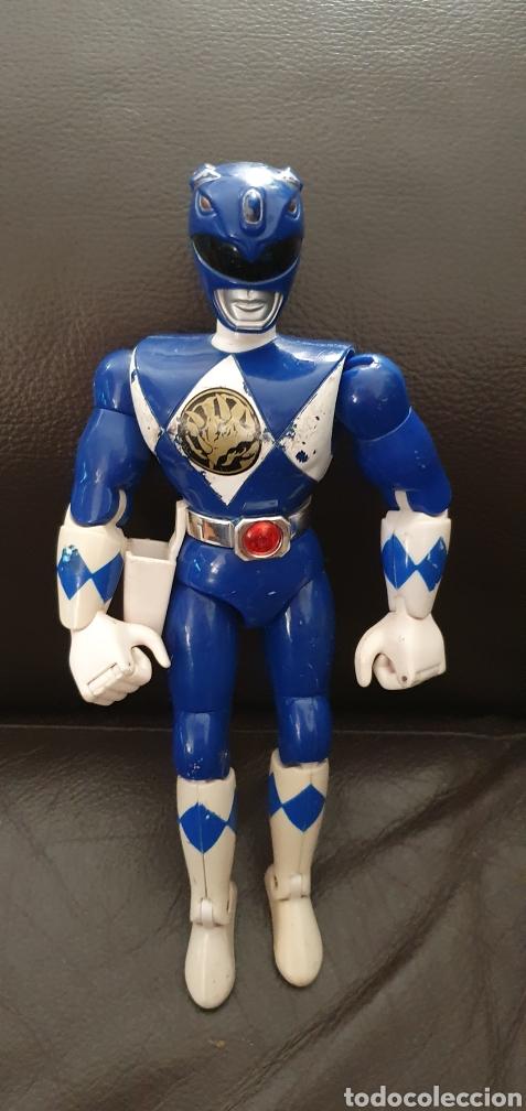 FIGURA POWER RANGERS AZUL ARTICULADA BANDAI 1993 (Juguetes - Figuras de Acción - Power Rangers)