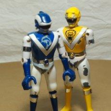Figuras y Muñecos Power Rangers: FIGURAS METAL BIOMAN TOEI BANDAI 1988 POWER RANGERS, DELFÍN AZUL Y METEORO AMARILLO. Lote 226361466
