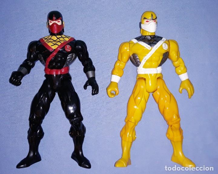 DOS FIGURAS POWER RANGERS ARTICULADAS DE SUNCO AÑO 2001 TAMAÑO GRANDE (Juguetes - Figuras de Acción - Power Rangers)