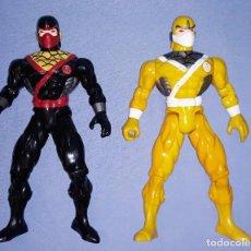 Figuras y Muñecos Power Rangers: DOS FIGURAS POWER RANGERS ARTICULADAS DE SUNCO AÑO 2001 TAMAÑO GRANDE. Lote 227067375