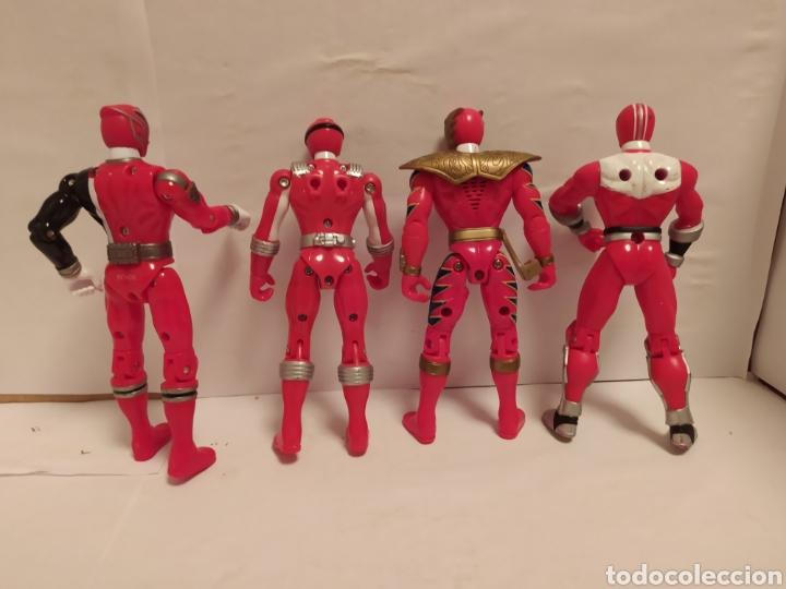 Figuras y Muñecos Power Rangers: Power Rangers ninjas rojos Bandai - Foto 4 - 229228240
