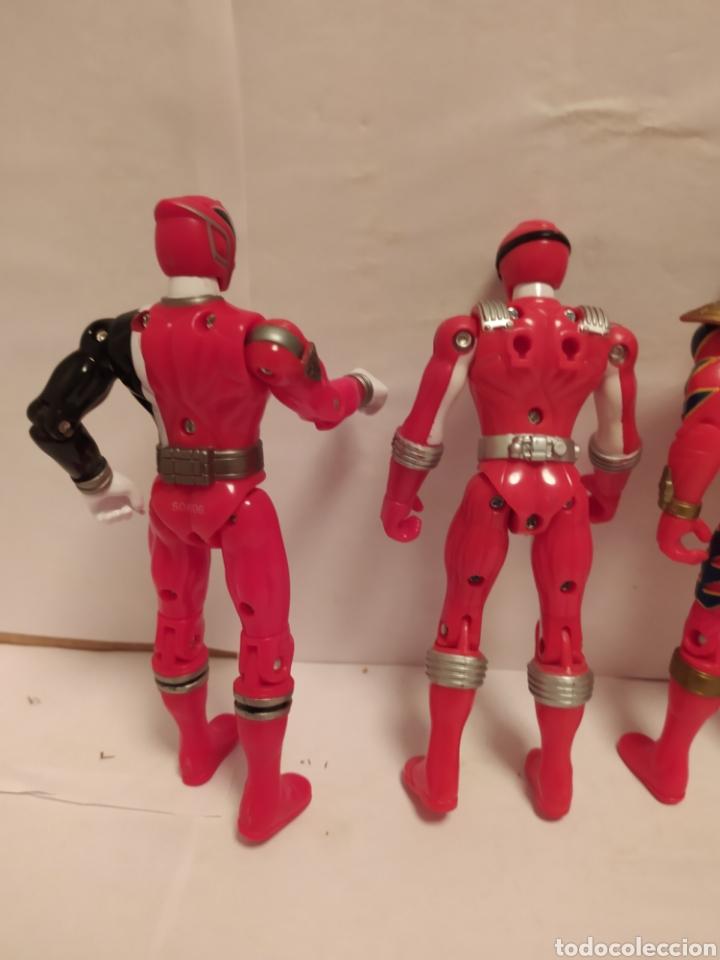 Figuras y Muñecos Power Rangers: Power Rangers ninjas rojos Bandai - Foto 5 - 229228240