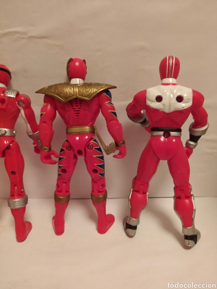 Figuras y Muñecos Power Rangers: Power Rangers ninjas rojos Bandai - Foto 6 - 229228240