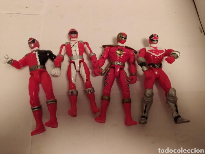 Figuras y Muñecos Power Rangers: Power Rangers ninjas rojos Bandai - Foto 7 - 229228240